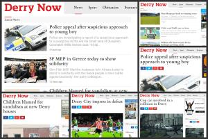 Derry Now canvas